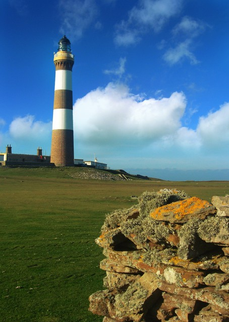 North Ronaldsay. UK's Tallest Land Based Lighthouse. Photograph © SelenaArte