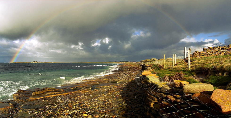 North Ronaldsay shore panorama Photograph © SelenaArte
